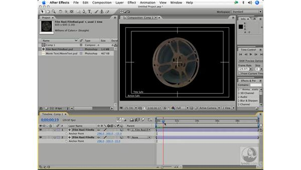 Basic 3-D layers in motion - parenting layers pt. 1: After Effects 7 and Photoshop CS2 Integration