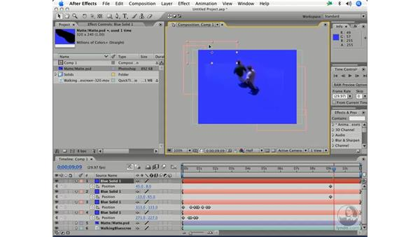 Blue-screen matte rotoscoping: After Effects 7 and Photoshop CS2 Integration