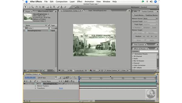 Stabilizing and rotoscoping old movies: After Effects 7 and Photoshop CS2 Integration