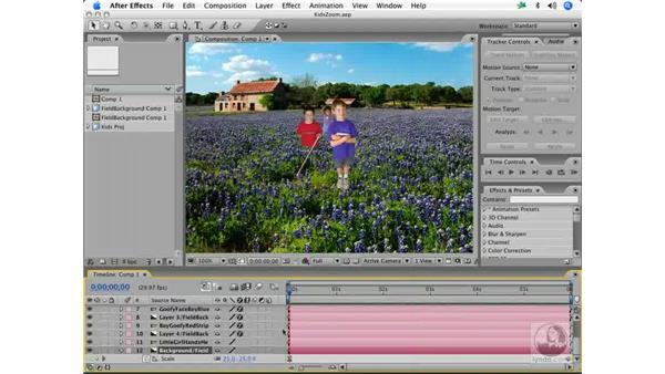 Simulated 3-D mattes and layers: After Effects 7 and Photoshop CS2 Integration