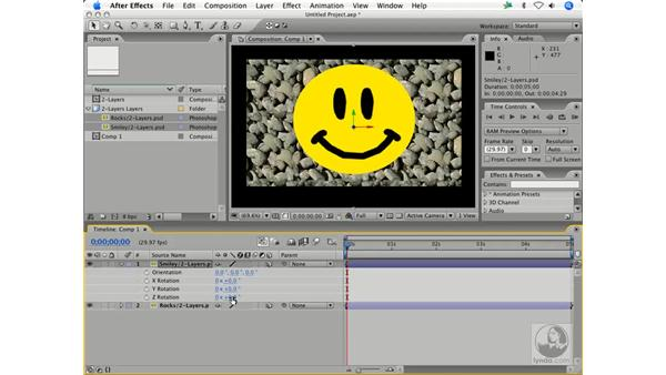 Prepping Photoshop CS2 layer prep for 3-D layers: After Effects 7 Animation Techniques