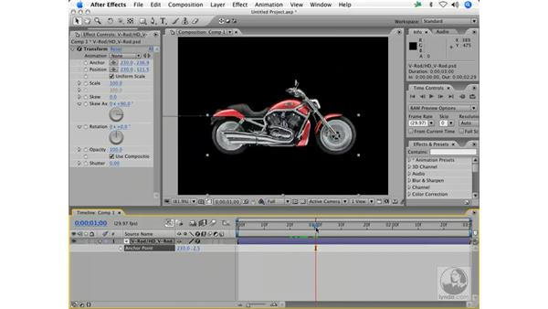 The classic sudden stop: After Effects 7 Animation Techniques