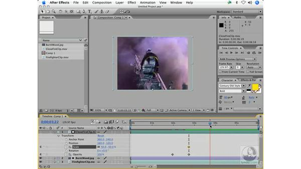 Luminance mattes from movies: After Effects 7 Animation Techniques