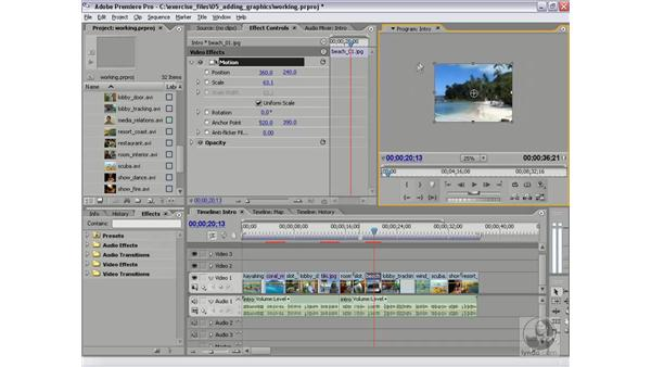 Modifying fixed effects in the Program Monitor: Premiere Pro 2 Essential Training