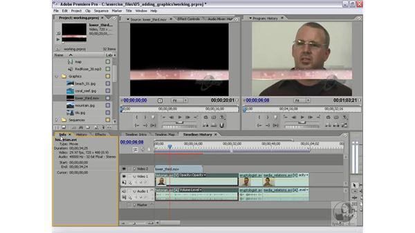 Using graphics with alpha channels: Premiere Pro 2 Essential Training