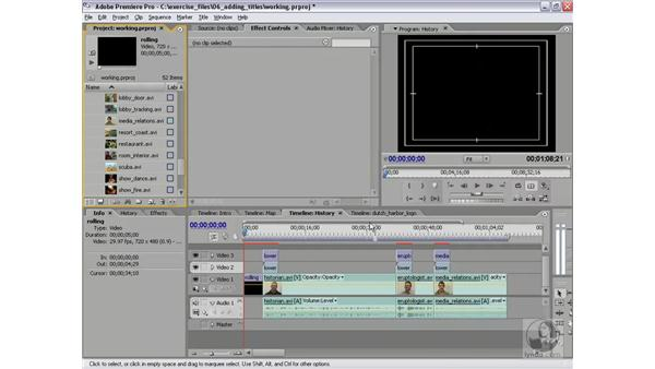 Rolling titles: Premiere Pro 2 Essential Training
