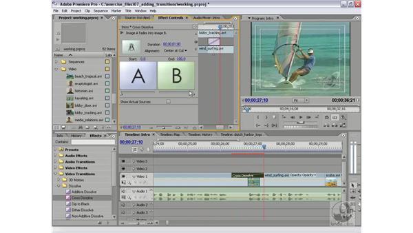 Adding transitions: Premiere Pro 2 Essential Training