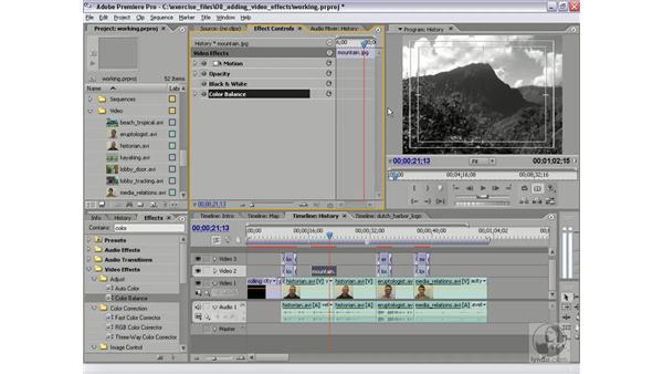 Sepia Photograph effect: Premiere Pro 2 Essential Training