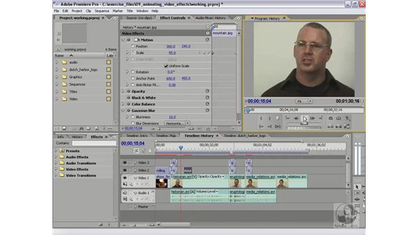 Animating fixed effects in the Effects Controls: Premiere Pro 2 Essential Training