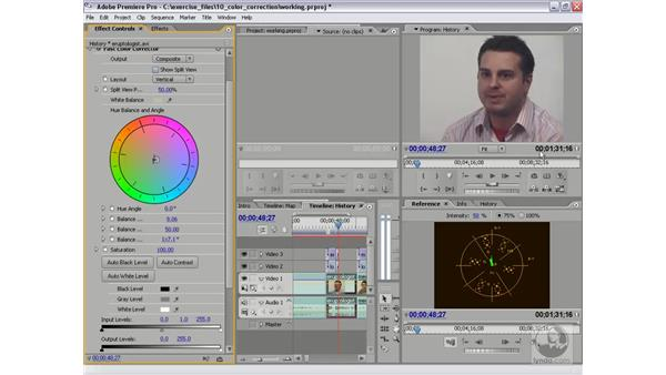 Using the Fast Color Corrector: Premiere Pro 2 Essential Training