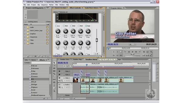 Applying an EQ audio effect: Premiere Pro 2 Essential Training