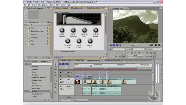 Applying a reverb effect: Premiere Pro 2 Essential Training