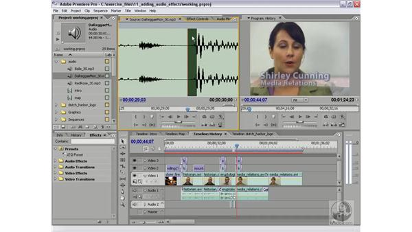 Looping music with audio units: Premiere Pro 2 Essential Training