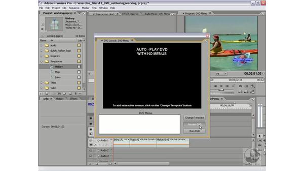Creating auto-play DVDs: Premiere Pro 2 Essential Training