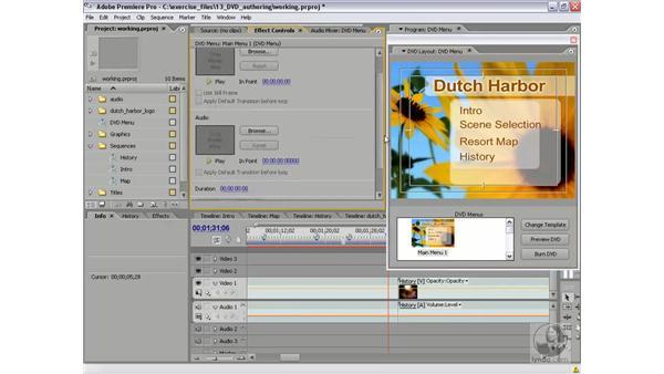 Customizing DVD menus: Premiere Pro 2 Essential Training