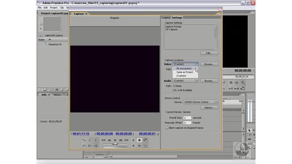 Preparing for capture: Premiere Pro 2 Essential Training