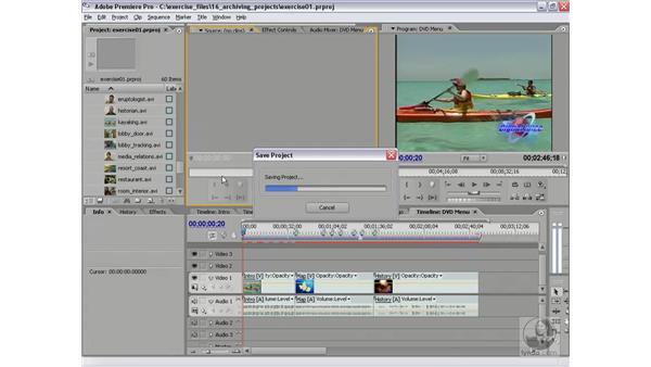 Removing unused media: Premiere Pro 2 Essential Training