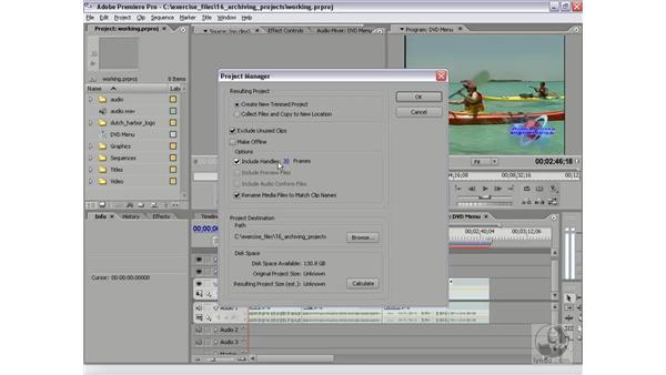 Creating a trimmed project: Premiere Pro 2 Essential Training