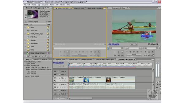 Creating a dynamic link: Premiere Pro 2 Essential Training