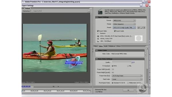 Exporting to Encore DVD: Premiere Pro 2 Essential Training