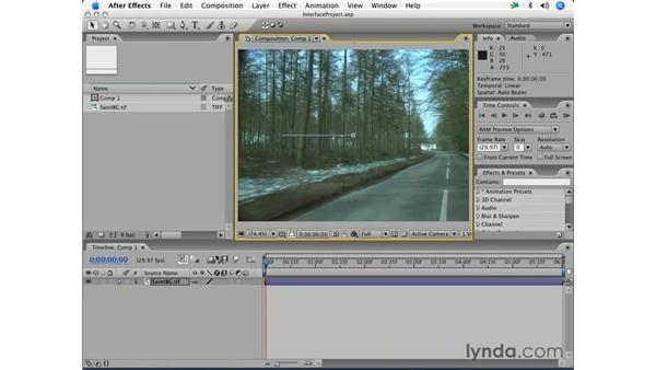 Window and panel management: After Effects 7 Essential Training