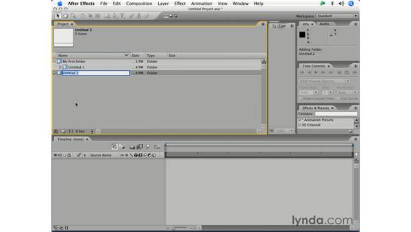 Creating and configuring a project: After Effects 7 Essential Training