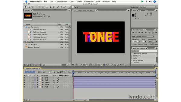 Importing assets into a project: After Effects 7 Essential Training