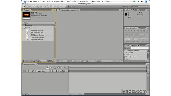 Importing a Photoshop file as a composition: After Effects 7 Essential Training