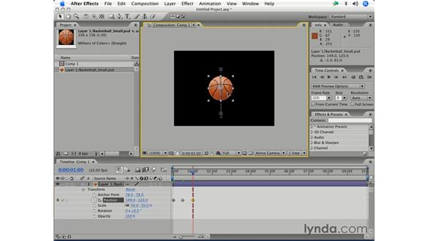 Animating position: After Effects 7 Essential Training