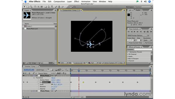 Adjusting bézier motion: After Effects 7 Essential Training