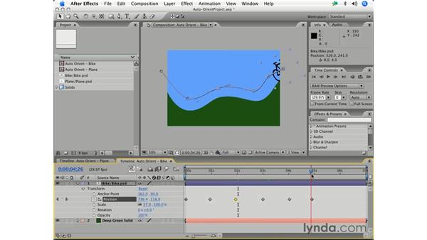 Following a complex motion path: After Effects 7 Essential Training