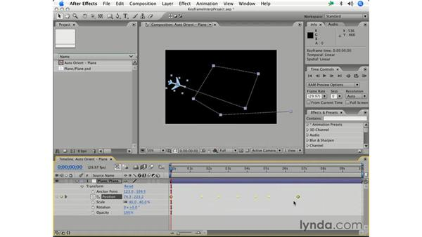 Types of keyframe interpolation: After Effects 7 Essential Training