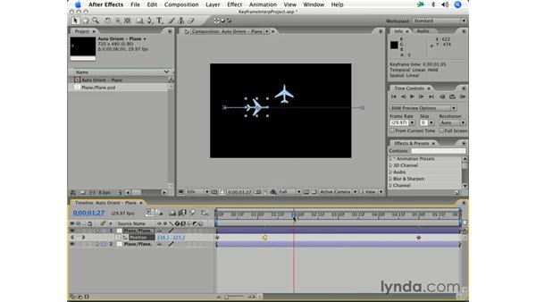 Hold keyframes: After Effects 7 Essential Training