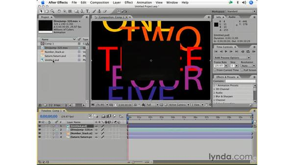Layer basics: After Effects 7 Essential Training