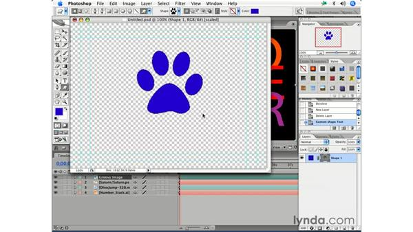 Editing an original layer in Photoshop: After Effects 7 Essential Training