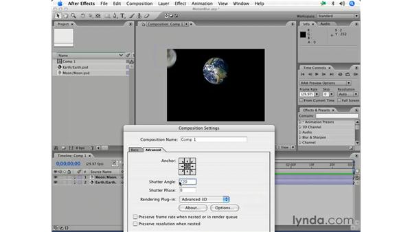 Applying motion blur: After Effects 7 Essential Training