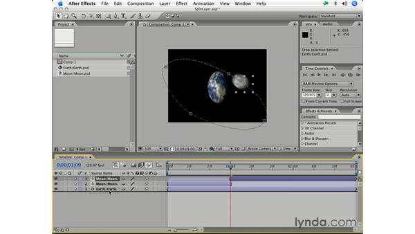 Splitting layers: After Effects 7 Essential Training