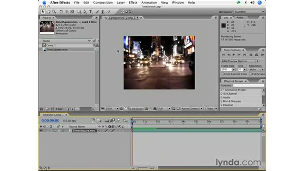 Time stretching and frame blending: After Effects 7 Essential Training