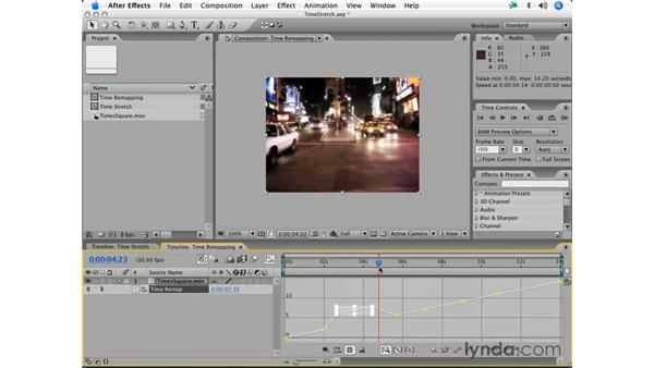 Time remapping: After Effects 7 Essential Training