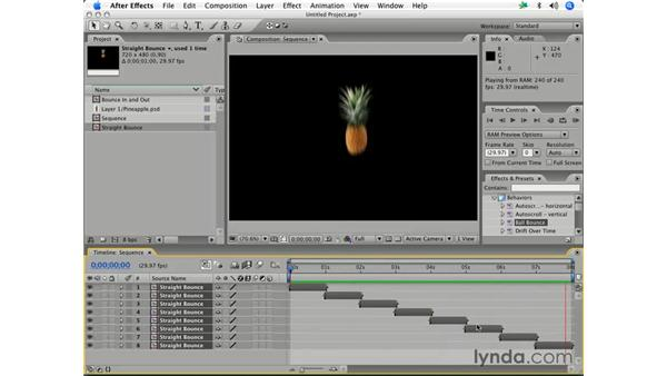 Sequencing layers: After Effects 7 Essential Training