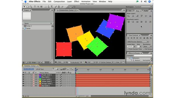 Aligning and distributing layers: After Effects 7 Essential Training