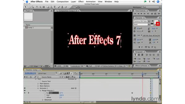 The Wiggly selector: After Effects 7 Essential Training