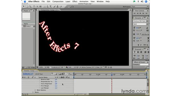 Text on a path: After Effects 7 Essential Training