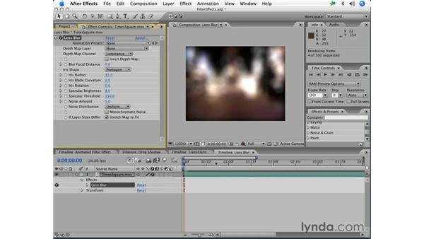 Lens blur: After Effects 7 Essential Training