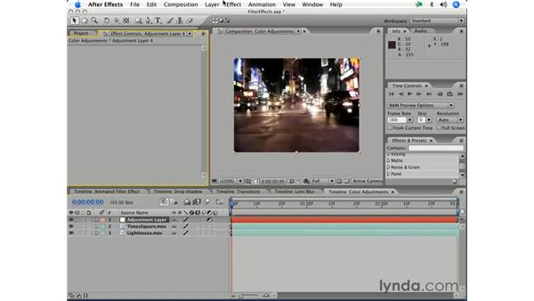 Effects as adjustment layers: After Effects 7 Essential Training