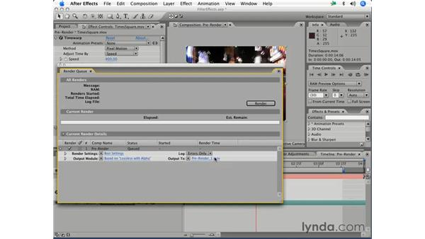 Pre-compositing effects: After Effects 7 Essential Training