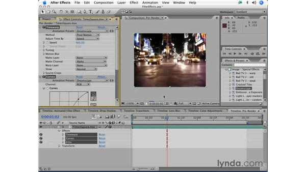 Saving effects as favorites: After Effects 7 Essential Training