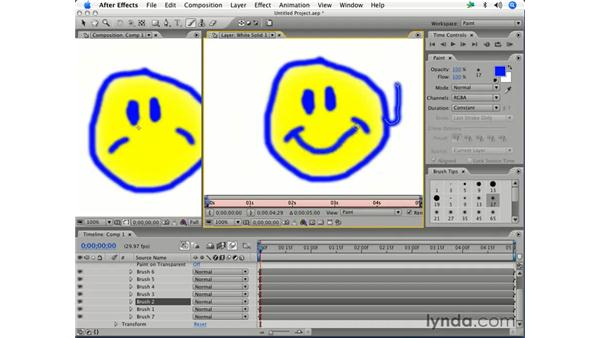 Editing paint strokes: After Effects 7 Essential Training