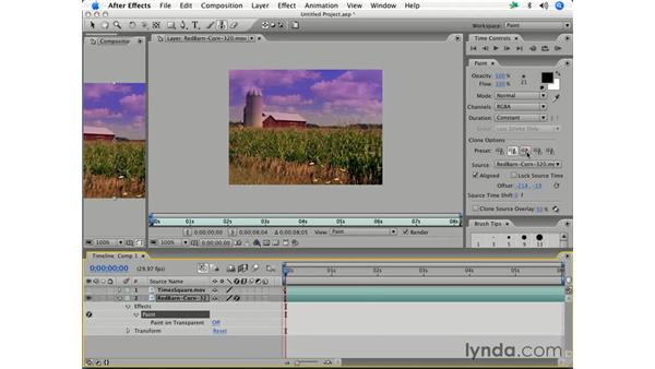 Using the Clone tool: After Effects 7 Essential Training
