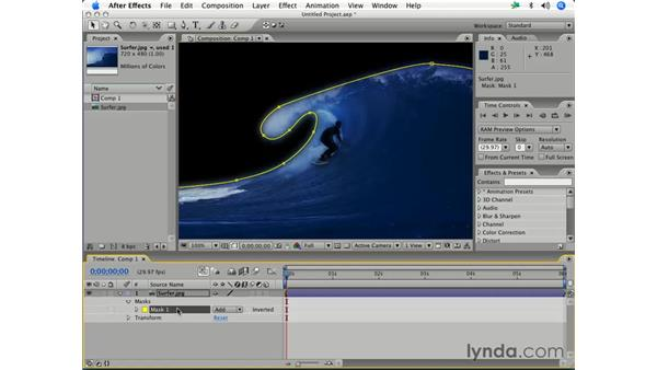 Drawing precise masks using the Pen tool: After Effects 7 Essential Training